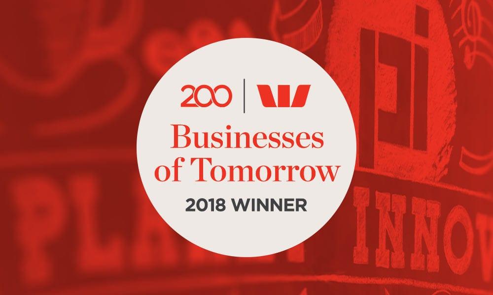 westpac business of tomorrow winner 2018 KINNECT
